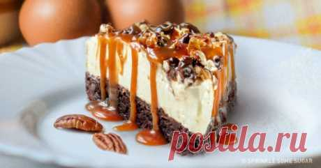Десерт, который объединяет чизкейк ибрауни