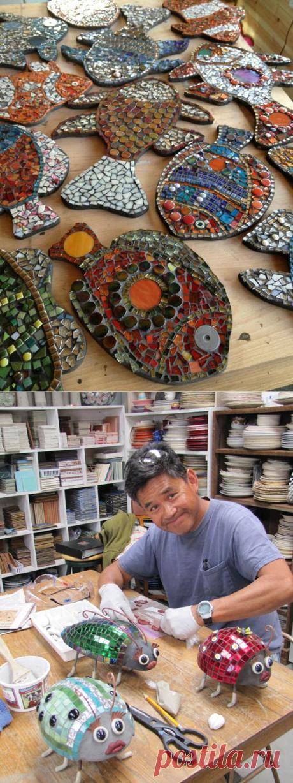 Мозаика-что можно сделать из разбившейся керамики