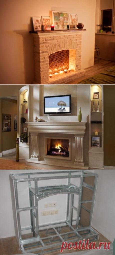 Фальш-камин своими руками из гипсокартона: варианты дизайна — Мой дом