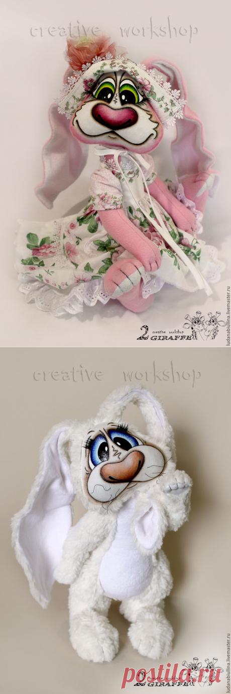 """Купить МК """"Заюшки"""" - зайка, кролик, текстильная игрушка, шплинтовое соединение, заяц"""