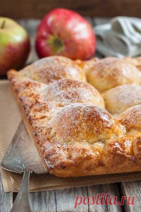 Как приготовить пирог из творожного теста с яблоками. - рецепт, ингридиенты и фотографии