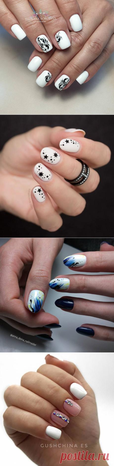 Белые короткие ногти: 100+ шедевров ногтевого искусства 2021 года | Новости моды