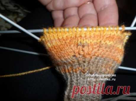 Knitting of mittens MK spokes from Olga, Knitting for children