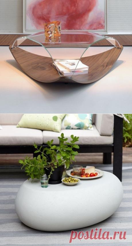 Подборка журнальных столиков: красивый и необычный предмет интерьера — Дом и Сад