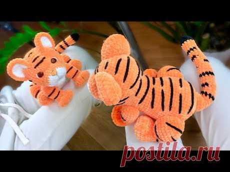 Мастер-класс Тигр крючком. Часть 1. Вязаные игрушки