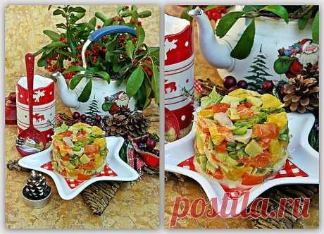 Куриный салат со сладкими перцами