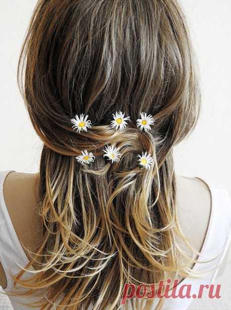Daisy Hair Clip, hair pins, Flower Clips, Wedding Flower Pins, Bridal hair pins,  Floral Hair Bobbies, set of 6, Boho, festival, wedding