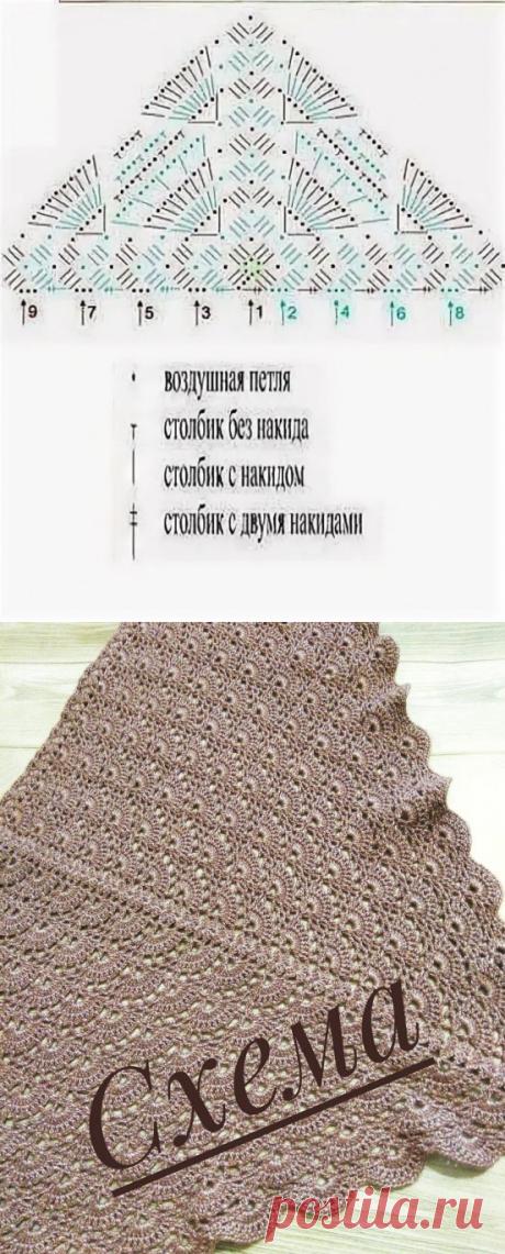 Интересный узор для шали
