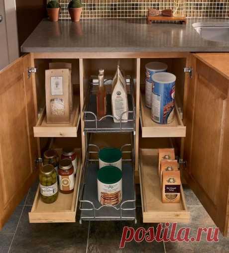 Незаменимые ящички: удобное хранение на кухне