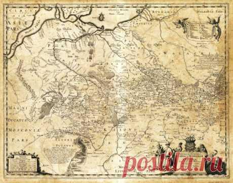Подробная карта Украины 1648 год: vakin