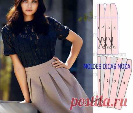 Моделирование интересных фасонов юбок — DIYIdeas