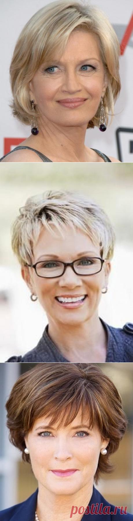Прически на короткие волосы для женщин за 40 лет фото варианты - 20 Июня 2014 - Прически, Стрижки 2015-2016 - Модные красивые прически и стрижки 2016 фото видео