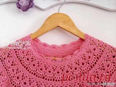 Платье детское крючком - Красивое вязание