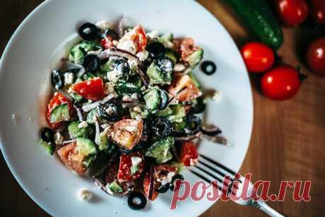 Худеем: греческий салат - мой вариант | Бюджетные и простые рецепты | Яндекс Дзен