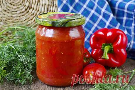 Заправка для борща из помидор и перца на зиму, рецепт