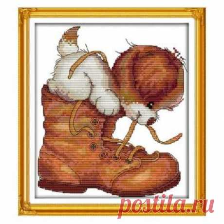Dog and shoes, dog, shoes, cross stitch pattern, cross stitch, modern cross stitch, embroidery, DIY, needlework, handmade, animal, kit, gift Dog and shoes, dog, shoes, cross stitch pattern, cross stitch, modern cross stitch, embroidery, DIY, needlework, handmade, animal, kit, gift  ☻ More cross stitch kits : https://www.etsy.com/shop/OscolShop?ref=seller-platform-mcnav§ion_id=24630773  ► Include: Canvas Cotton (without printing)