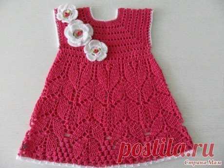 Детское платье, вяжем крючком