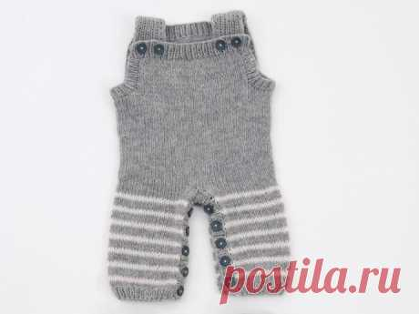 Серый комбинезон для ребенка