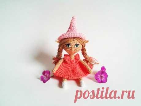 Куколка — эльф крючком