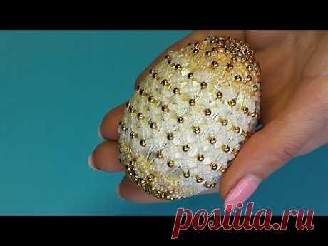 Пасхальное яйцо из бисера / Как оплести яйцо бисером Beaded Egg