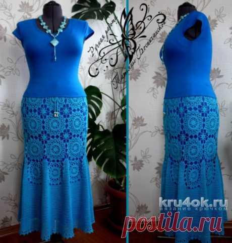 Knitted hook skirt. Tatyana Bespichanskaya's work
