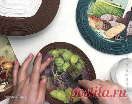 DIY Панно своими руками | Панно из старых газет | Идея из газетных трубочек | Страна Мастеров