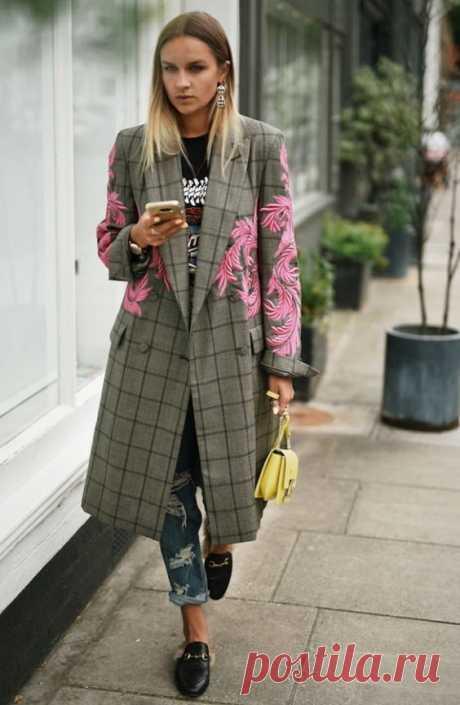 Вышитые пальто (трафик) Модная одежда и дизайн интерьера своими руками