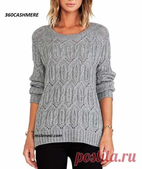 Вязаный пуловер от 360CASHMERE   Вяжем с Лана Ви
