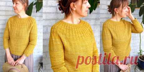 Пуловер с круглой кокеткой Taproot - Вяжи.ру