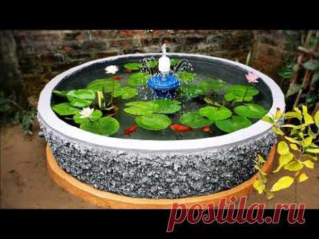 Как Построить Красивый Аквариум Водопада Очень Легко - Для Вашего Семейного Сада