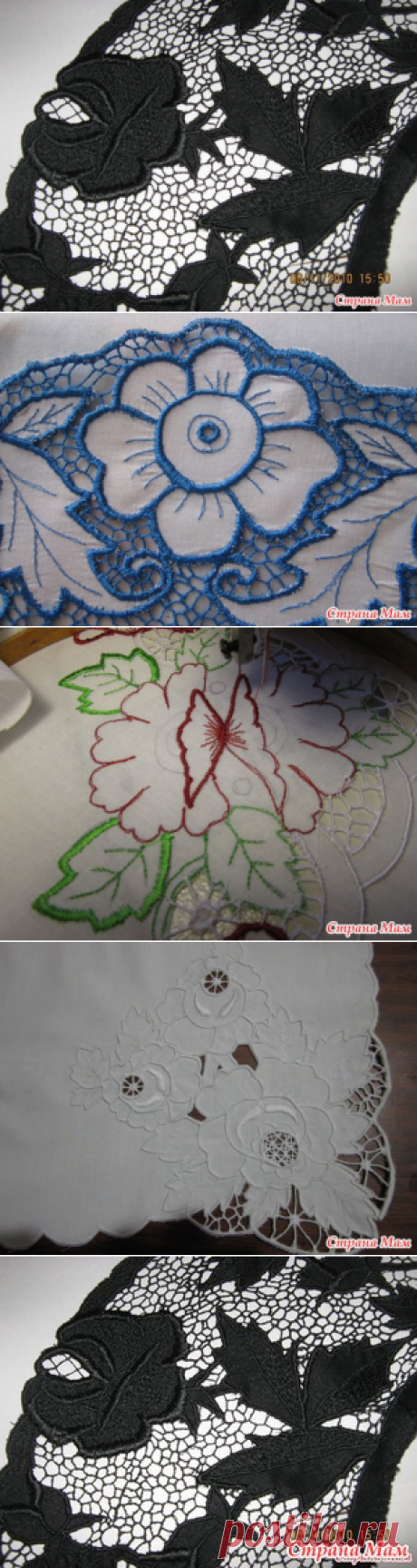 The promised course on free and running equipment of an embroidery on the ordinary sewing machine. - A machine embroidery - the Country of Mothers