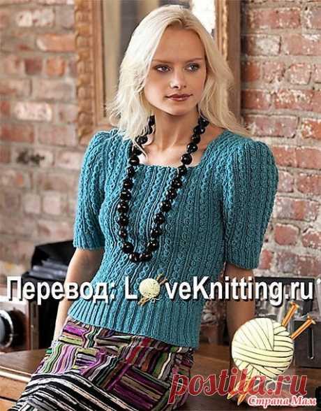 Ажурный пуловер от дизайнера Julie Farmer. Спицы. - ВЯЗАНАЯ МОДА+ ДЛЯ НЕМОДЕЛЬНЫХ ДАМ - Страна Мам