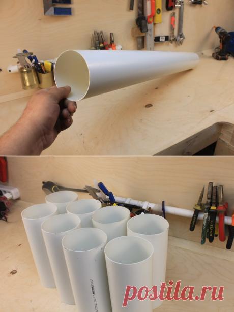 Увидел у соседа в мастерской простую самоделку из обрезка трубы, сделал себе сразу три штуки   Генератор идей   Яндекс Дзен