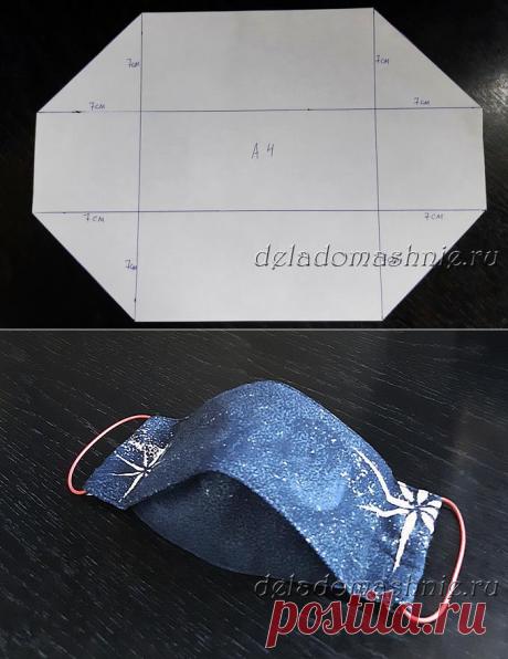 Медицинская маска своими руками (выкройки и шаблоны)