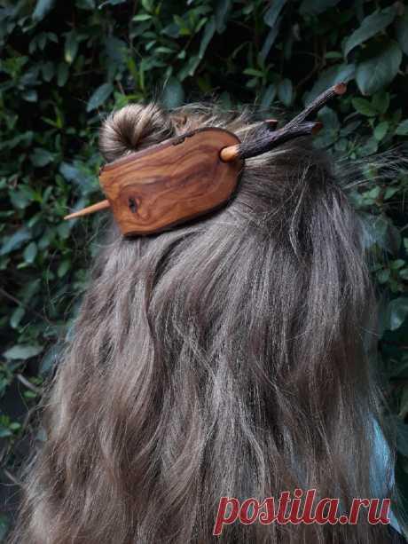 """Заколка для волос """"Лесная гармония""""."""