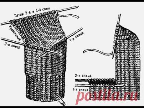 Как вязать пятку. Пошаговое видео для начинающих. (Learn to Knit Socks part 2)