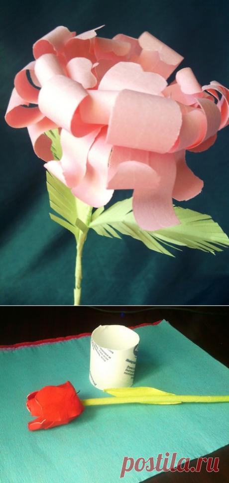Como hacer las flores del papel por las manos – la instrucción por etapas de la foto para los principiantes
