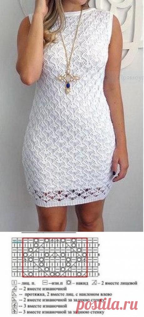 Узор для ажурного платья (или не только) спицами