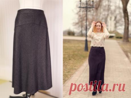 Мастер-класс смотреть онлайн: Шьем длинную юбку, выкроенную по косой. С кокеткой и на подкладке | Журнал Ярмарки Мастеров Идея пошива этой юбки появилась у меня совершенно случайно. Во-первых, мне нужна была юбка для холодных дней. Во-вторых, я очень хотела юбку, скроенную по косой и длинную, так как такой крой очень удачно садиться на фигуру, а мне уже &#171
