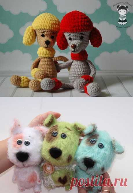 We knit the sweetest doggies, a symbol of 2018. Two master classes