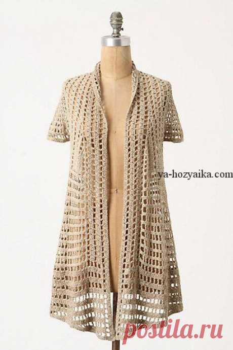 Openwork cardigan without fastener a hook. A fashionable cardigan a scheme hook the Openwork cardigan without fastener a hook. A fashionable cardigan a hook from Anthropologie.