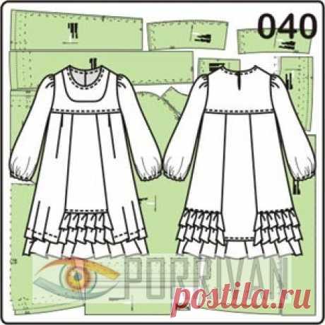Los patrones de los vestidos infantiles. 352 patrones preparados y gratuitos - Porrivan