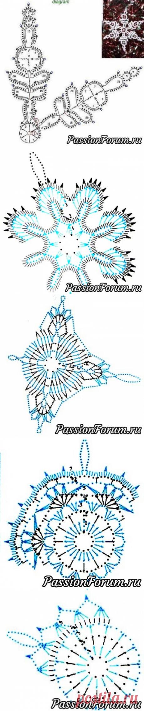 Вязаные снежинки - запись пользователя Елена в сообществе Вязание крючком в категории Вязаные крючком аксессуары