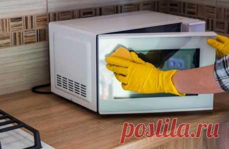 Простейший способ идеальной очистки микроволновой печи без затрат