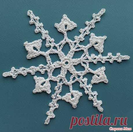 Мои новые снежинки + интересные схемы - Вязание - Страна Мам