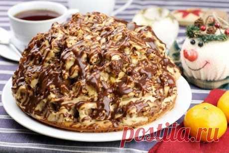 Торт, который сразу напоминает праздник! Очень вкусный! Готовится быстро!