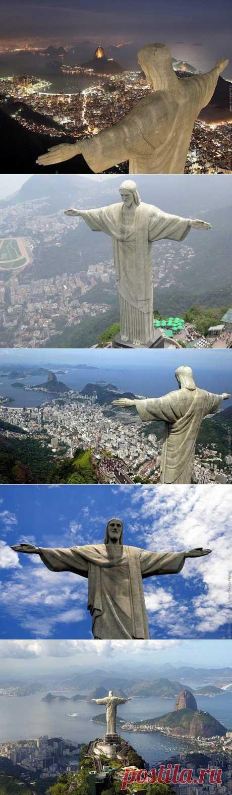 Статуя Христа Искупителя в Рио-де-Жанейро, фото статуи в Бразилии