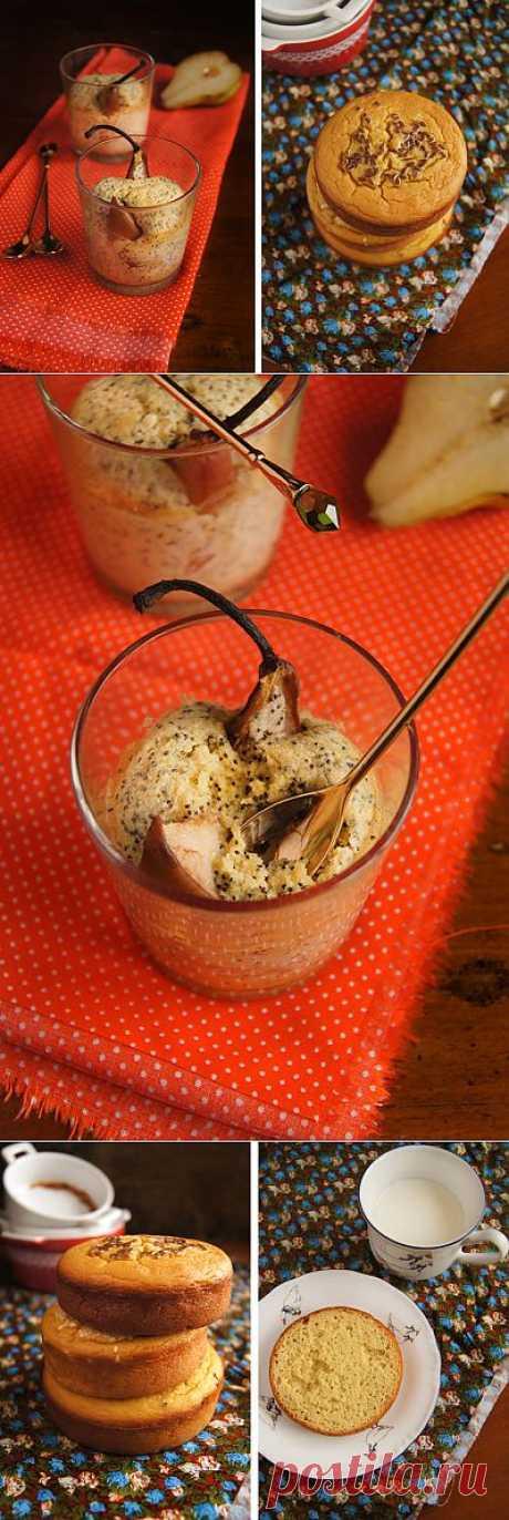 Заметки на кухонных занавесках - Итальянские маковые кексы с грушей и Кукурузный хлеб
