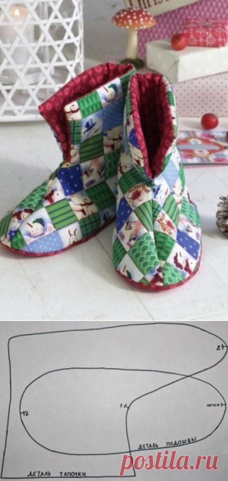 Как сшить домашние тапочки своими руками?