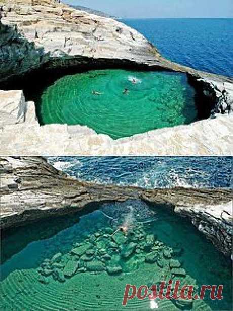 Природный бассейн, острова Тасос, Греция | Места && Пространства